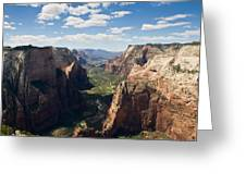 Zion Valley From Observation Point - Color Greeting Card by Steven Wilson