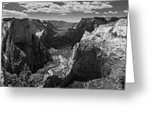 Zion Valley From Observation Point Greeting Card by Steven Wilson