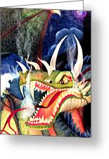 Zoe Dragon Greeting Card by Carrie Jackson