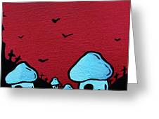Zombie Mushroom Army Greeting Card by Jera Sky