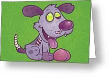 Zombie Puppy Greeting Card by John Schwegel