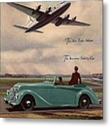 1940s Uk Aviation Hawker Siddeley Cars Metal Print by The Advertising Archives