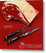 1940s Usa Meat Metal Print by The Advertising Archives