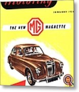 1950s Uk Cars Mg Magnette Covers Metal Print by The Advertising Archives