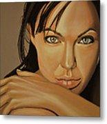 Angelina Jolie Voight Metal Print by Paul Meijering