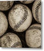 Baseballs Metal Print by Diane Diederich