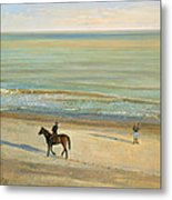 Beach Dialogue Dunwich Metal Print by Timothy  Easton