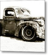 Chevy Pickup Patina  Metal Print by motography aka Phil Clark