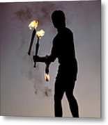 Fire Juggler Metal Print by Carl Purcell