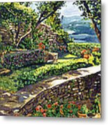 Garden Stairway Metal Print by David Lloyd Glover