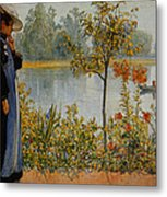 Indian Summer Metal Print by Carl Larsson