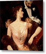 Invitation To The Waltz Metal Print by Francesco Miralles Galaup