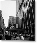 Outside Madison Square Garden New York City Winter Usa Metal Print by Joe Fox