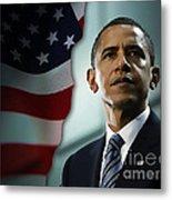 President Barack Obama Metal Print by Marvin Blaine