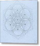 Quantum Snowflake Metal Print by Jason Padgett