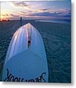 Sandy Hook Beach Sunset Metal Print by George Oze