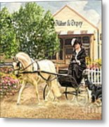 Shopping Day Metal Print by Trudi Simmonds