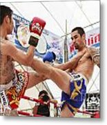 Thai Boxing Match Metal Print by Anek Suwannaphoom