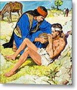 The Good Samaritan  Metal Print by Clive Uptton