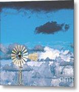 Water Windmill Metal Print by Stelios Kleanthous