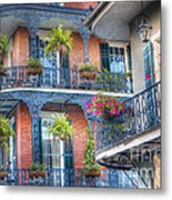 0255 Balconies - New Orleans Metal Print by Steve Sturgill