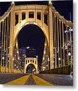0304 Roberto Clemente Bridge Pittsburgh Metal Print by Steve Sturgill