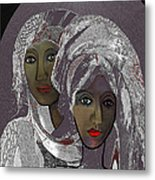 065 - White Veiled Ladies   Metal Print by Irmgard Schoendorf Welch