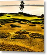 #15 At Chambers Bay Golf Course - Location Of The 2015 U.s. Open Tournament Metal Print by David Patterson