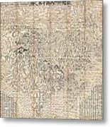 1710 First Japanese Buddhist Map Of The World Showing Europe America And Africa Metal Print by Paul Fearn
