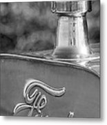 1911 Ford Model T Torpedo 4 Cylinder 25 Hp Hood Ornament  Emblem Metal Print by Jill Reger