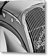 1937 Peugeot 402 Darl'mat Legere Special Sport Roadster Recreation Grille Emblem Metal Print by Jill Reger