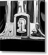 1948 Pontiac Streamliner Woodie Station Wagon Emblem Metal Print by Jill Reger