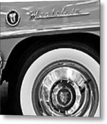 1951 Mercury Montclair Convertible Wheel Emblem Metal Print by Jill Reger