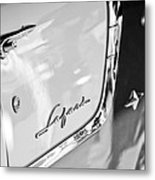 1955 Pontiac Safari Station Wagon Emblem Metal Print by Jill Reger