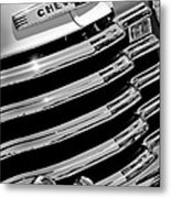 1956 Chevrolet 3100 Pickup Truck Grille Emblem Metal Print by Jill Reger