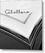 1957 Buick Custom Station Wagon Caballera Emblem Metal Print by Jill Reger