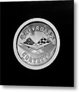 1960 Chevrolet Corvette Roadster Emblem Metal Print by Jill Reger