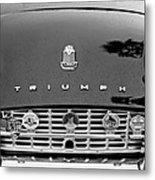1960 Triumph Tr 3 Grille Emblems Metal Print by Jill Reger