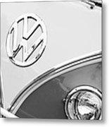 1960 Volkswagen Vw 23 Window Microbus Emblem Metal Print by Jill Reger