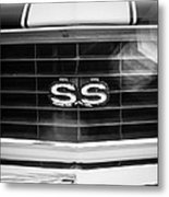 1969 Chevrolet Camaro Rs-ss Indy Pace Car Replica Grille Emblem Metal Print by Jill Reger
