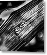 1969 Chevrolet Camaro Rs-ss Indy Pace Car Replica Steering Wheel Emblem Metal Print by Jill Reger