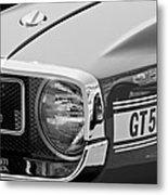 1969 Shelby Gt500 Convertible 428 Cobra Jet Grille Emblem Metal Print by Jill Reger