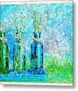 1-2-3 Bottles - S13ast Metal Print by Variance Collections