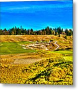 #4 At Chambers Bay Golf Course - Location Of The 2015 U.s. Open Championship Metal Print by David Patterson