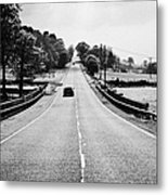 A69 Road On The Border Of Cumbria And Northumberland Uk Metal Print by Joe Fox