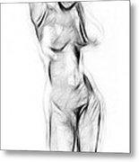 Abstract Nude Metal Print by Stefan Kuhn