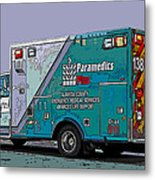 Alameda County Medical Support Vehicle Metal Print by Samuel Sheats