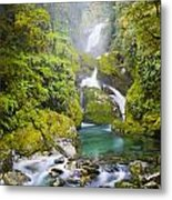 Amazing Waterfall Metal Print by Tim Hester
