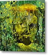 Attacking The Dande-lion Metal Print by Sabine Stetson