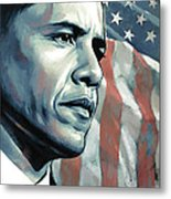 Barack Obama Artwork 2 Metal Print by Sheraz A
